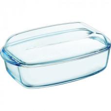 Гусятница Pyrex О Cuisine 4,3 л с крышкой 2,2 л, жаропрочое стекло