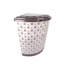 Корзина для белья угловая 53 л Elif Plastic с рисунком, 40*53*55 см (Louis Vuitton)