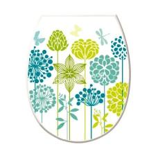 Сиденье на унитаз пластик Elif Plastic с рисунком (одуванчик)