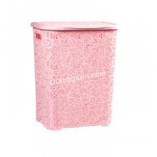 Корзина для белья 45 л, Tuffex 31,5*41*48 см (пудра)
