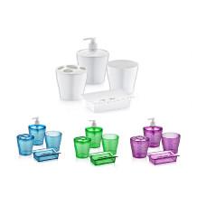 Набор аксессуаров для ванной комнаты Irak Plastik 4 пр. (Цвет в ассортименте)