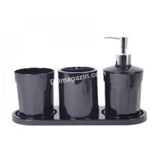 Набор аксессуаров для ванной комнаты MOON (4 предмета), черный