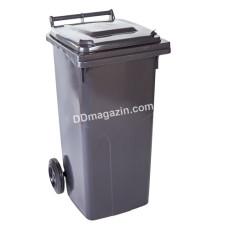 Бак мусорный 120 л. (темно-серый) 122064