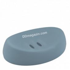 Мыльница пластиковая для умывальника (сизо голубая)