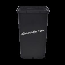 Вазон для рассады квадратный 2,8 л, 15*15*20 см, упаковка (25 шт) (черный)