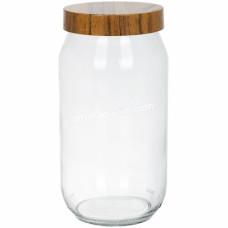Банка стеклянная для хранения продуктов Herevin WOODY 1 л 231377-000