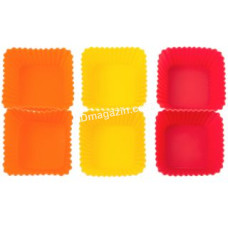 Набор форм силиконовых для выпечки маффинов Krauff 6шт, 6,5x6,5x3см. (26-184-032)