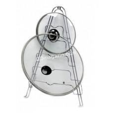 Подставка под крышки Kamille навесная, 45*31*12 см с хромированной стали KM-0146