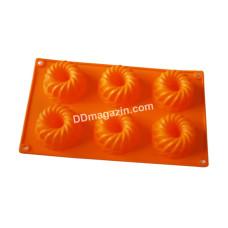 Форма силиконовая для выпечки маффинов Kamille на 6шт. 29*17*4см KM-7728