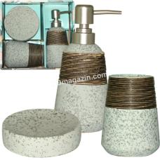 Набор аксессуаров для ванной комнаты S&T Aqua, 3пр (887-06-01)