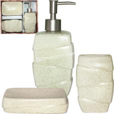 Набор аксессуаров для ванной комнаты S&T Classic, 3пр (887-10-01)