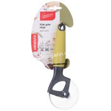 Нож для пиццы Ardesto Gemini, серый/желтый, нержавеющая сталь, пластиковая ручка с софт тач AR2112PY