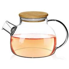 Чайник-заварник Ardesto 1000 мл, боросиликатное стекло, бамбук AR3010GB