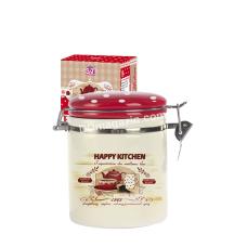 Банка на зажиме для сыпучих продуктов S&T Happy Kitchen 500 мл (h-10 см, d-9,5 см)