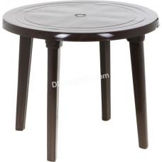 Стол круглый d-90 см (шоколад) 100011
