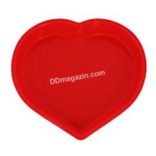 Форма силиконовая для выпечки Kamille Сердце 25*23,5*4,5 см KM-7702