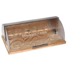 Хлебница Kamille бамбуковая 36,5*26,5*19 см (задняя стенка - нерж.) KM-1103