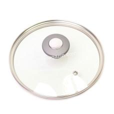Крышка стеклянная Kamille Ø20см с металлическим ободком (универсальная) KM-0822GR