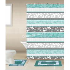Штора для ванной комнаты и душа, с кольцами с Peva материала, Dariana, XRQ-RP-199, 180 * 180см
