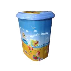 Корзина для белья 45 л, Elif Plastic с рисунком 38 * 45 * 53 см (море)