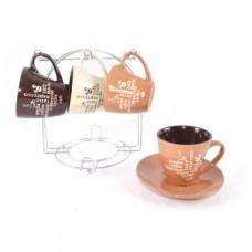 Сервиз чайный Interos Кофе MIX 12 пр. (220 мл) в подст.