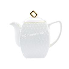 Чайник заварочный Interos Снежная королева 900 мл, фарфор кв.