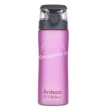 Бутылка для воды Ardesto 600 мл, розовая, пластик AR2205PR