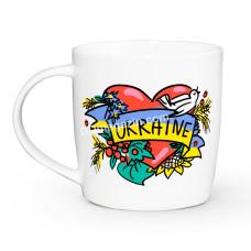 Кружка 360 мл. Украина сердце Kvarta 1945