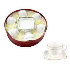 Сервиз чайный Interos Снежная королева (6 чашек 280 мл с блюдцами) 12 предметов
