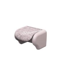 """Держатель для туалетной бумаги Elif Plastic """"Ажур"""" (розовый)"""
