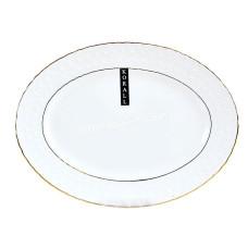 Блюдо Interos Снежная королева фарфор белое, овальное 20 см