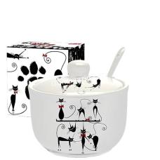 Сахарница S&T Черная кошка с ложкой, 450 мл (2242-12)