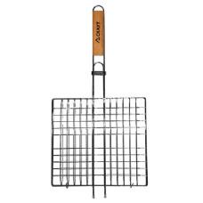 Решетка для гриля, 27*24*2,0 см, с деревянной ручкой