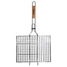 Решетка для гриля, 35*26*2,0 см, с деревянной ручкой KM-0703