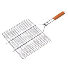 Решетка для гриля 40*30*2,0 см, с деревянной ручкой KM-0707