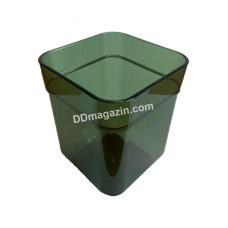 Стакан для зубных щеток CUBE, прозрачный зеленый