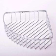 Полочка в ванную комнату Besser угловая, 24*24*7 см (хромированная сталь)