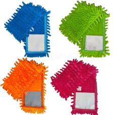 """Запаска к швабре - полотёр шиньон """"1000 пальцев"""" 43*10 см Eco Fabric, микрофибра"""