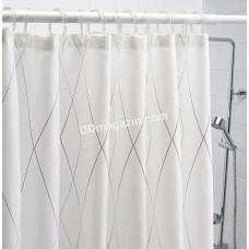 Карниз в ванную комнату Besser, раздвижной, 110*200 см, белый