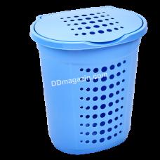 Корзина для белья 60 л (голубой ледяной) 122053