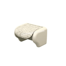 """Держатель для туалетной бумаги Elif Plastic """"Ажур"""" (белый)"""