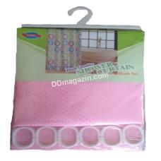 Шторка для ванной комнаты и душа текстиль, 180*180 см (розовая)