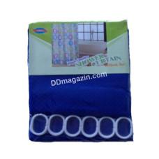 Шторка для ванной комнаты и душа, текстиль, 180*180 см (синий)