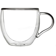 Набор чашек с ручками Ardesto с двойными стенками 300 мл, H 9,2 см, 2шт, Боросиликатное стекло