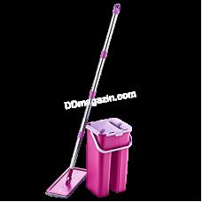 Комплект для мытья пола Akay plastik Smart (ведро, запаска с телескопическим кием) (бежевый)