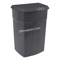 Бак мусорный 90 л. (темно-серый) 122062