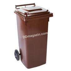 Бак мусорный 120 л. (темно-коричневый) 122064