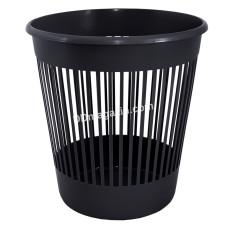 Корзина для бумаги круглая 12л (черный) 122052