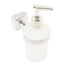 Дозатор для жидкого мыла настенный Besser стеклянный, крепления из нержавеющей стали