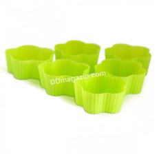 Набор форм силиконовых для выпечки маффинов Kamille Ромашка 6шт. 7*7*3 см KM-7733
